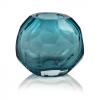 Maya Hand Cut Glass Vase – Small