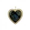 PROVENCE HEART CHARM – LABRADORITE