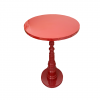 GLOSSY RED SIDE TABLE