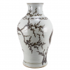 Rusty Brown and White Plum Branch Vase