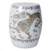 Brown and White Hong Wu Dragon Porcelain Garden Stool