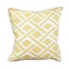 Yellow & White Geometric Throw Pillow