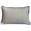 Brown & White Patterned Throw Pillow