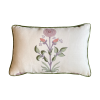 Purple and Green Floral Pillow