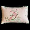 Pink Floral and Bird Floral Pillow